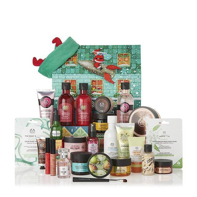 The Body Shop has three different advent calendars full of goodies