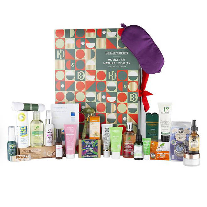 The natural beauty calendar from Holland and Barrett is only £35
