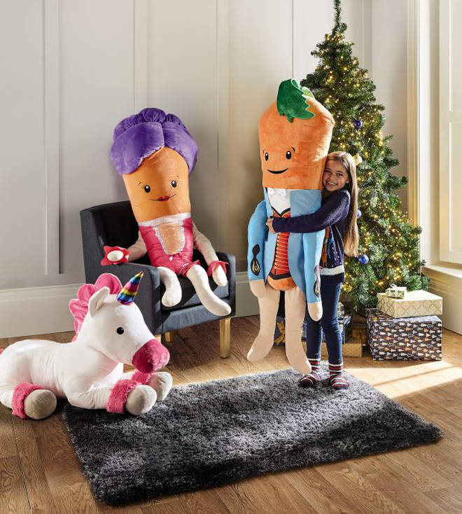The giant Kevin and Katie soft toys are only £19.99