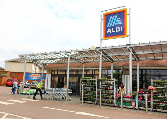 The incident happened in an Aldi carpark (stock image)