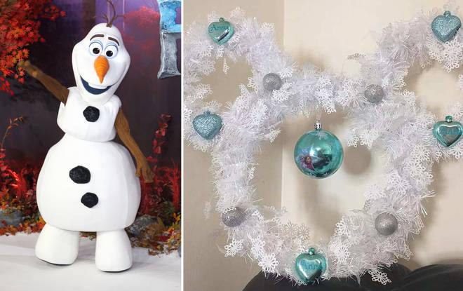 The wreath is inspired by Disney's Frozen