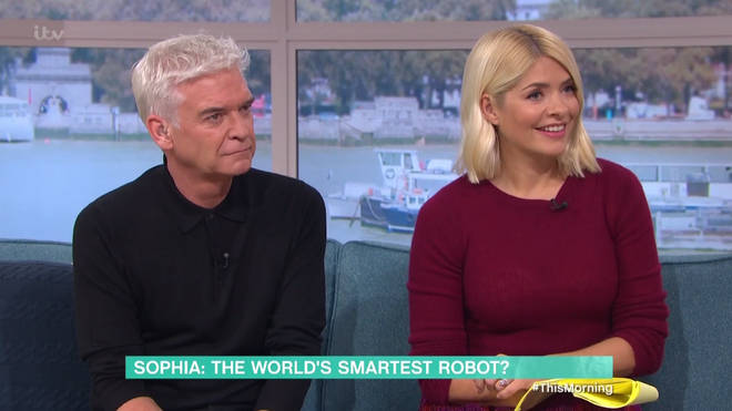 Holly and Phil were alarmed by Sophia's talents