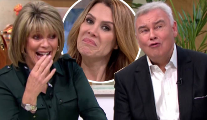 Ruth Langsford was left cringing as Eamonn made howling noises
