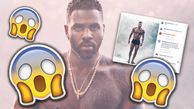 Jason Derulo gave fans an eyeful - and some cheeky chat
