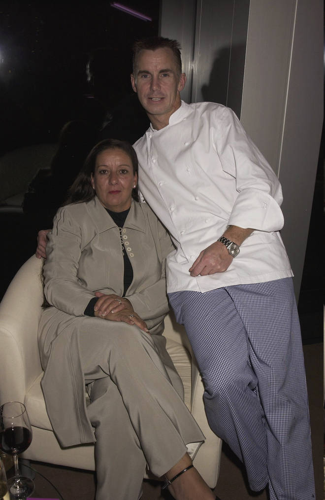Gary Rhodes and wife Jennie pictured in 2003
