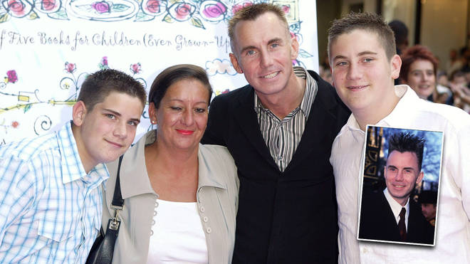 Gary Rhodes and his wife and two sons, pictured in 2003