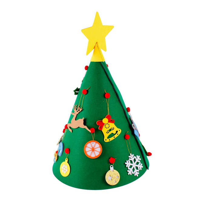 The felt tree is just £9.99 from Amazon