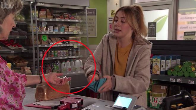 Coronation Street fans noticed empty milk bottles in Dev's shop