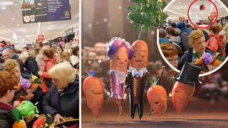 Aldi stores were packed on Thursday as Kevin the Carrot toys went on sale