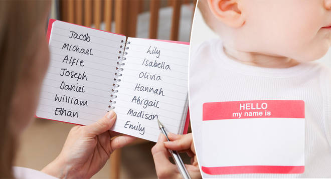 A woman has been slammed for sending her ex a list of baby names